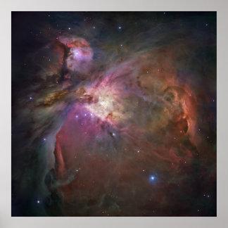 Opinión panorámica de Hubble de la nebulosa de Ori Póster