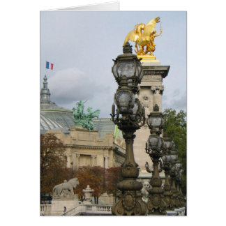 Opinión París del puente de Alexander Tarjeta De Felicitación