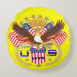 Opinión patriótica o del veterano sobre diseño cojín redondo