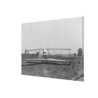 Opinión plana del primer de los hermanos de Wright Impresión En Lienzo Estirada