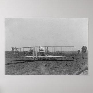 Opinión plana del primer de los hermanos de Wright Poster