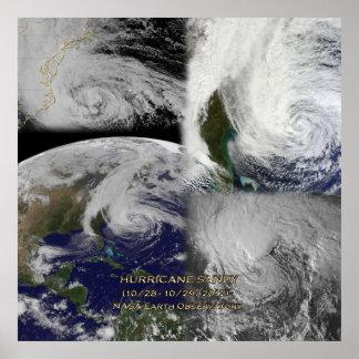 Opinión por satélite del collage del poster de San