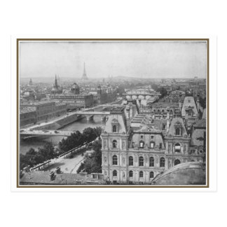 Opinión postal de París, Francia del vintage