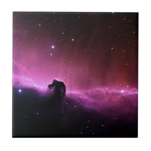 Opinión púrpura loca abstracta del espacio azulejo cuadrado pequeño