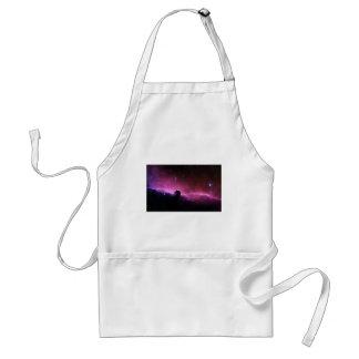 Opinión púrpura loca abstracta del espacio delantal