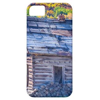 Opinión rústica rural del otoño de la cabina de la iPhone 5 protector