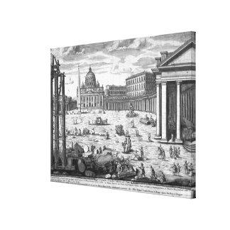 Opinión San Pedro, Roma Impresión En Lienzo Estirada