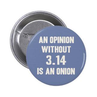 Opinion Sans Pi Pinback Button