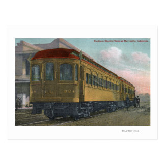 Opinión septentrional de tren eléctrico postales