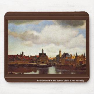 Opinión sobre Delft, cerca Juan Vermeer (el mejor  Alfombrilla De Ratón