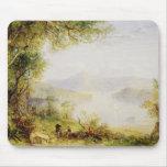 Opinión sobre el río Hudson, c.1840-45 (aceite en  Tapetes De Raton
