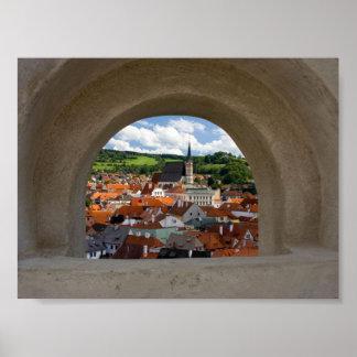 Opinión sobre la ciudad de Cesky Krumlov del casti Póster