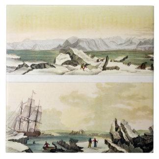 Opinión Spitsbergen con el Dorothea en del colo Azulejo Cerámica