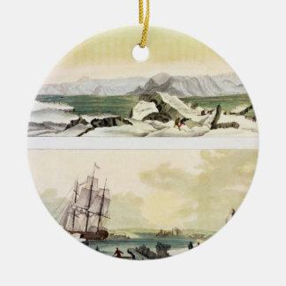 Opinión Spitsbergen con el Dorothea en del colo Ornamentos Para Reyes Magos