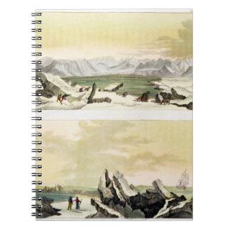 Opinión Spitsbergen con el Dorothea en del colo Libreta
