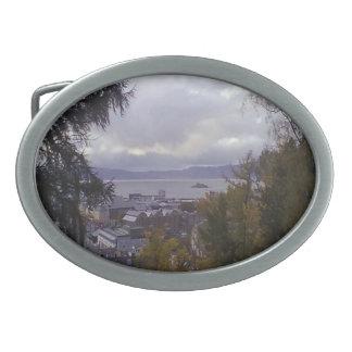 Opinión Strondheim de la ciudad Hebilla De Cinturón Oval