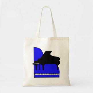Opinión superior azul de Sillouette del piano negr Bolsa Tela Barata