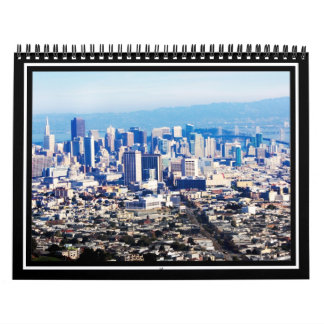 Opinión superior de la colina de San Francisco Calendarios De Pared