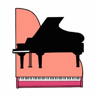 Opinión superior rosada de Sillouette del piano ne Esculturas Fotograficas