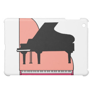 Opinión superior rosada de Sillouette del piano ne