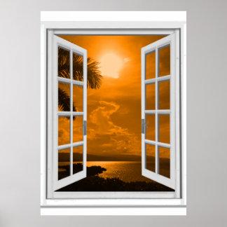 Opinión Trompe - l ' ventana falsa de la puesta Póster