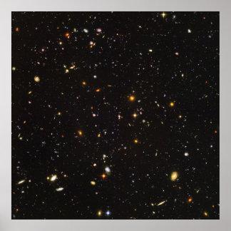 Opinión ultra profunda del campo de Hubble de 10.0 Poster