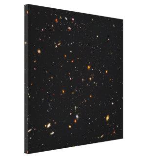 Opinión ultra profunda del campo de Hubble de Lona Envuelta Para Galerías