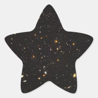 Opinión ultra profunda del campo de Hubble de Pegatina En Forma De Estrella