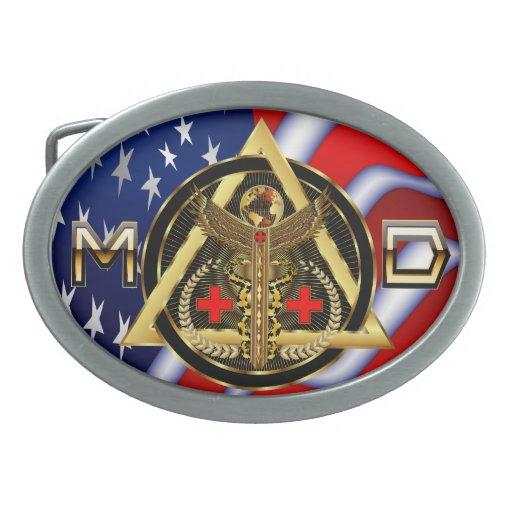OPINIÓN universal médica del óvalo del diseño Hebilla Cinturon Oval