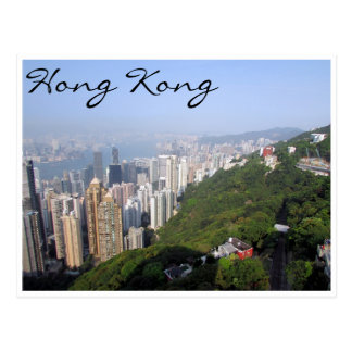opinión verde de Hong-Kong Tarjeta Postal