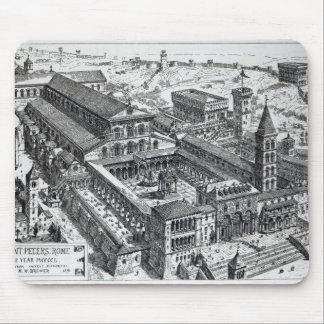Opinión viejo San Pedro, Roma, 1891 Alfombrillas De Ratones
