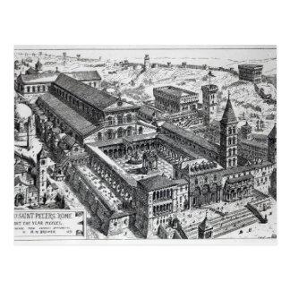 Opinión viejo San Pedro, Roma, 1891 Tarjetas Postales