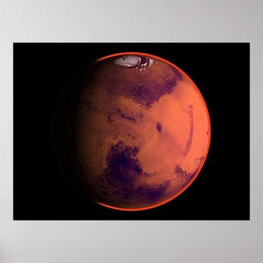 Opinión virtual 01 del planeta de Marte de los pla Póster