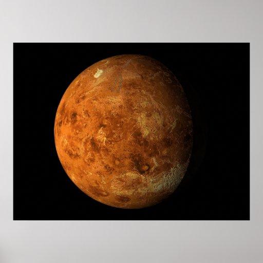 Opinión virtual 01 del planeta de Venus de los pla Póster