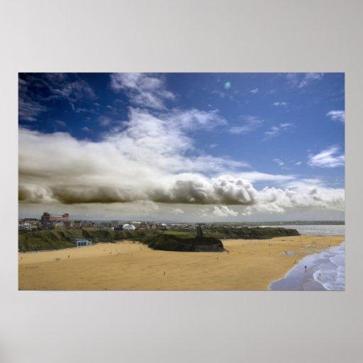 Opinión y playa de la ciudad de Ballybunion Poster