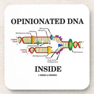Opinionated DNA Inside Genetics Genes Humor Drink Coaster