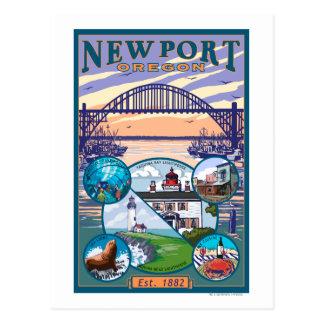 Opiniones de la ciudad - Newport, Oregon Postales