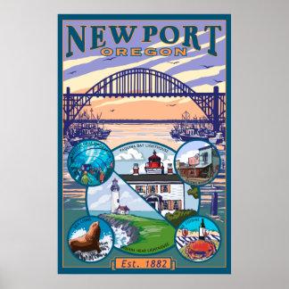 Opiniones de la ciudad - Newport Oregon Poster