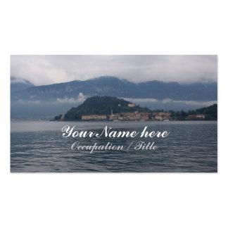 Opiniones de la orilla del lago tarjeta de visita
