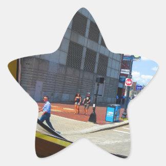 Opiniones de la ventana del bus turístico de la pegatina en forma de estrella