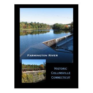 Opiniones del río de Farmington Postales