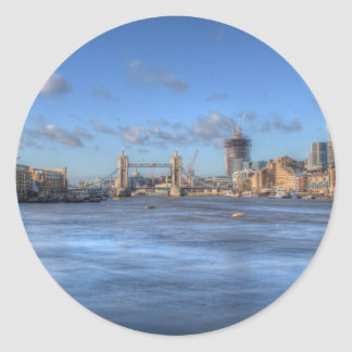 Opiniones del río de Londres Etiqueta Redonda