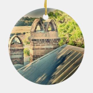 Opiniones del tejado de Lowcountry del ornamento Adorno Navideño Redondo De Cerámica