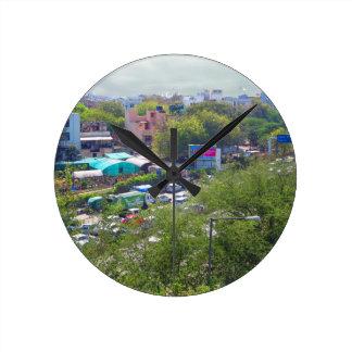 Opiniones del tráfico de Nueva Deli la India de Reloj Redondo Mediano