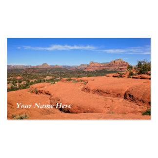 Opiniones del valle del panorama tarjetas de visita