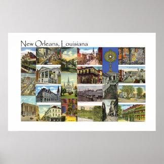 Opiniones del vintage de New Orleans, Luisiana Impresiones