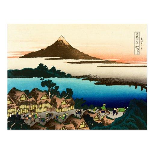 Opiniones ilustradas del sobre 36 del monte Fuji, Postales