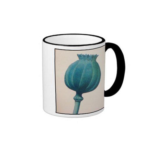 OPIUM POPPY RINGER COFFEE MUG