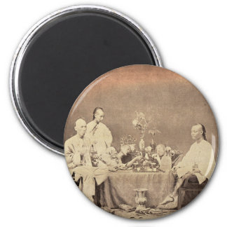 Opium Smokers in China 2 Inch Round Magnet
