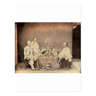 Opium Smokers in China Postcard